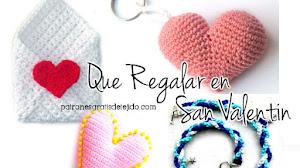 Qué regalar en San Valentín / Tutoriales de Regalos tejidos crochet