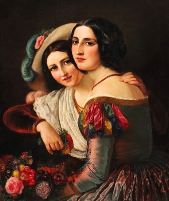 Two Young Italian Women Dressed for the Carnival (1950), Elisabeth Jerichau-Baumann