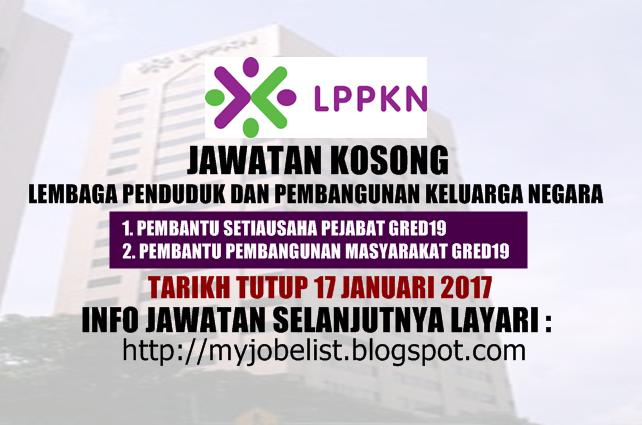 Jawatan Kosong Terkini di LPPKN Januari 2017