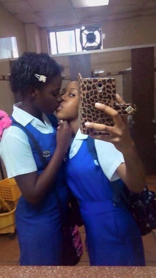 Teenage School Girls Shares Photo of Them Kissing
