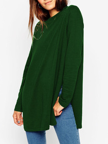 www.shein.com/Army-Green-Round-Neck-Split-T-Shirt-p-241094-cat-1738.html?aff_id=2525