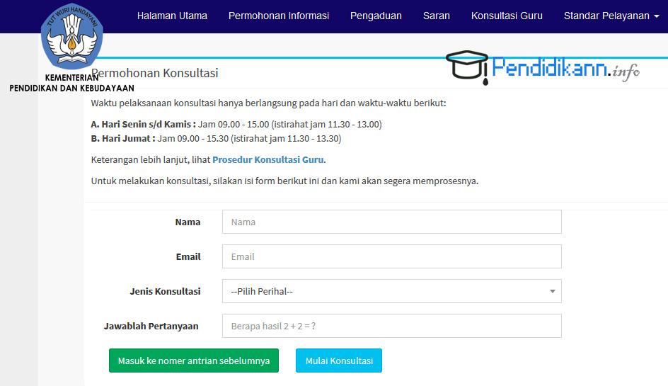 Info Prosedur Konsultasi Guru Online Kemendikbud