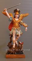 statuina arcangelo michele santo scultura modellini personalizzati orme magiche