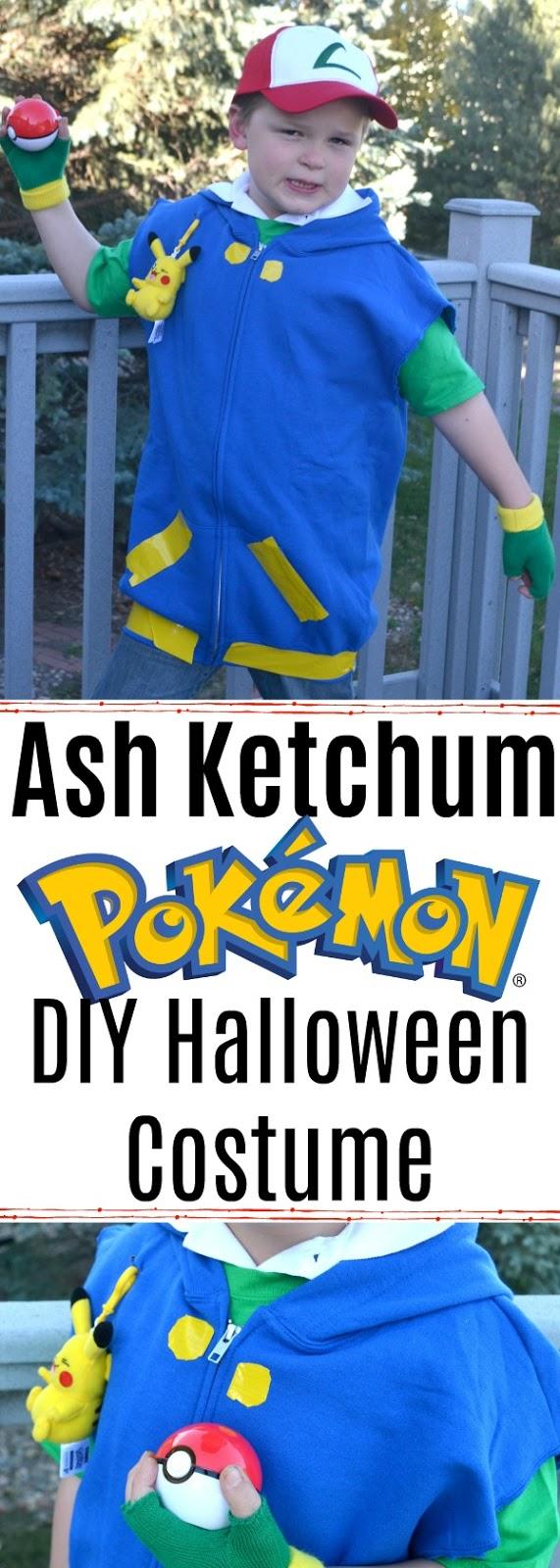 Ash Ketchum - Pokemon DIY Halloween Costume, Pokemon halloween costume, Ash Ketchum halloween costume, DIY Ash Ketchum costume, Pokemon costumes, DIY pokemon costume, Pokemon trainer costume, DIY halloween costumes