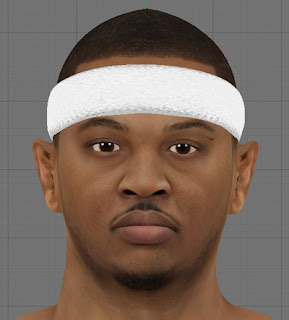 NBA 2K13 Carmelo Anthony HD Cyber Face Patch