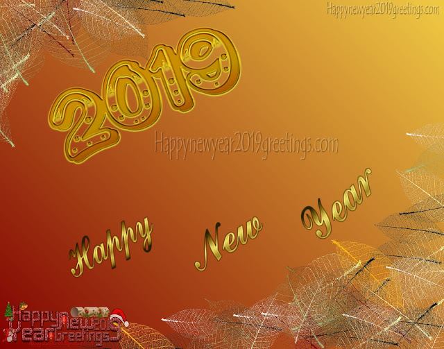Happy New Year 2019 Red Golden Images Download - New Year 2019 Full HD Golden Images