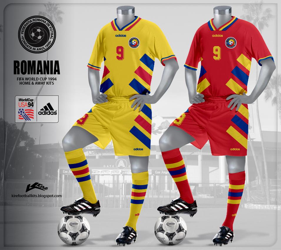 6ad11f81ada9e Kire Football Kits: Romania Kits World Cup 1994