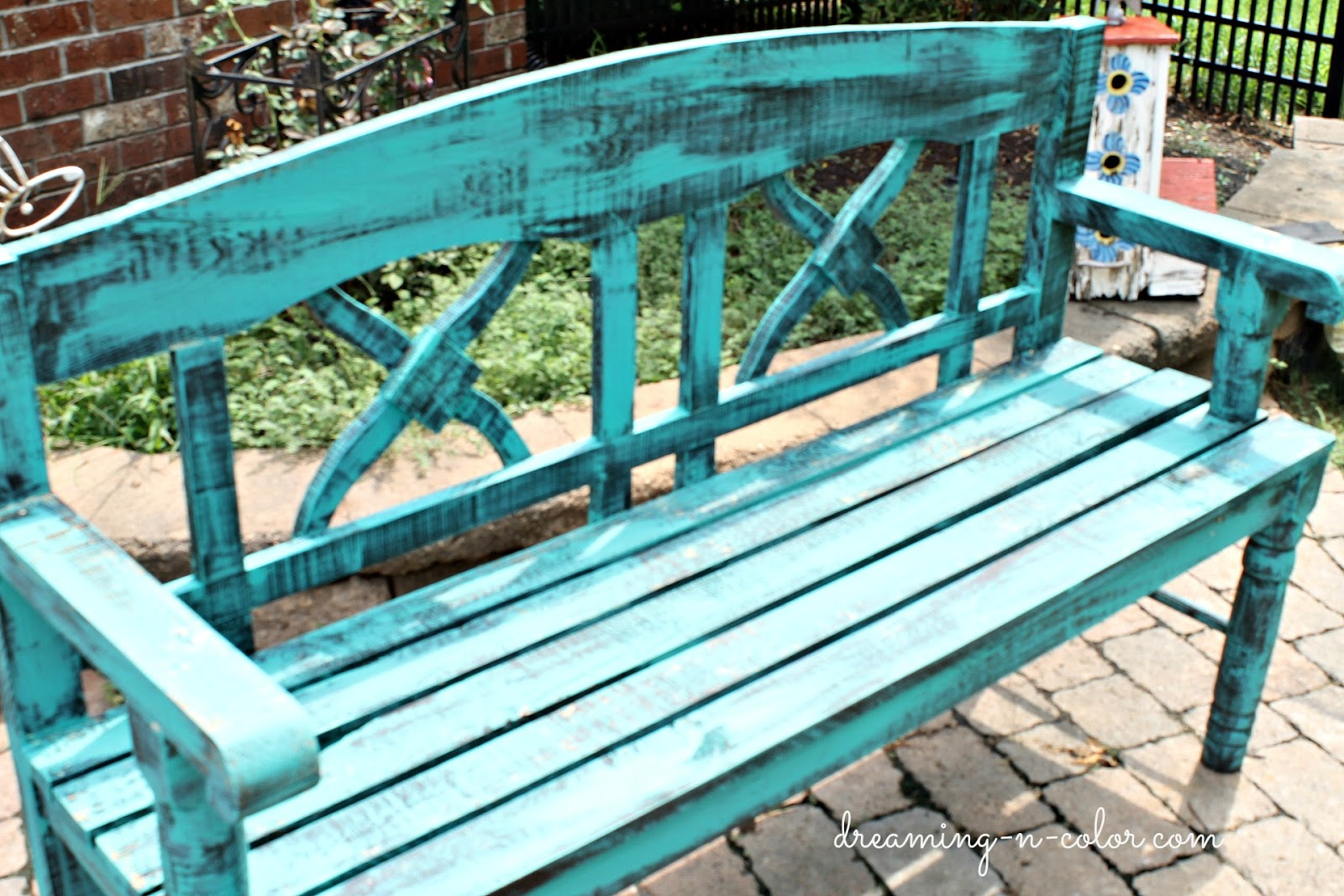 Excellent dreamingincolor: Turquoise Bench BN16