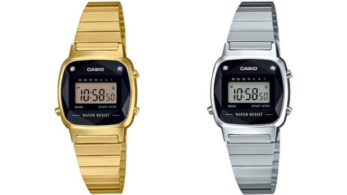 Casio LA serisi taşlı model retro saatler