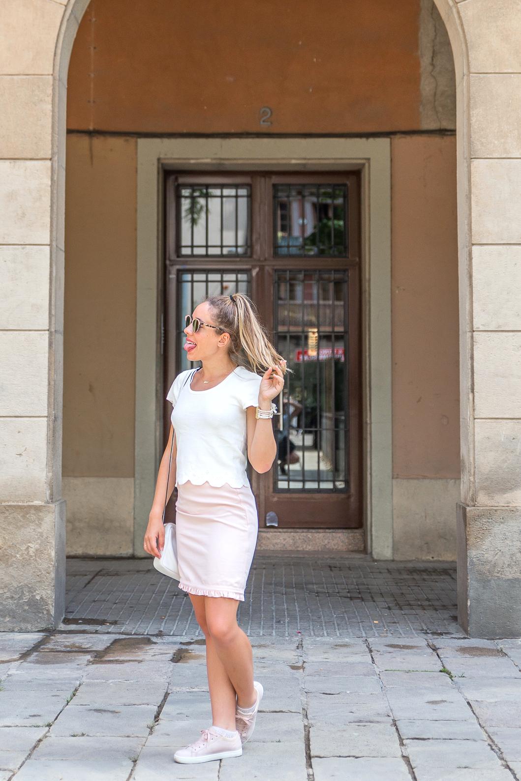 blog mode tenue été rose pastel