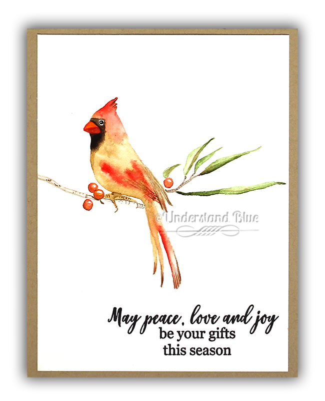 Watercolor Female Cardinal by Understand Blue