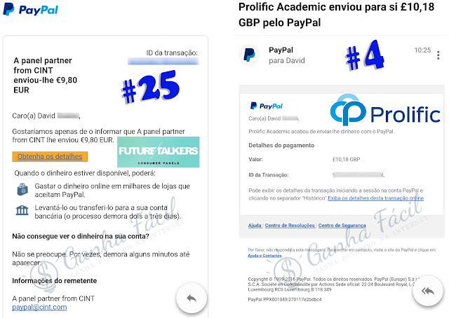 futuretalkers prolific paypal pagamento dinheiro euro libra
