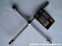 Klucz krzyżowy do kół z przesuwnymi ramionami Niteo Tools CW0274-15 z Biedronki Vershold