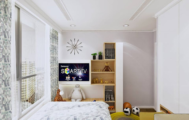 Mẫu thiết kế phòng ngủ cho bé trai năng động