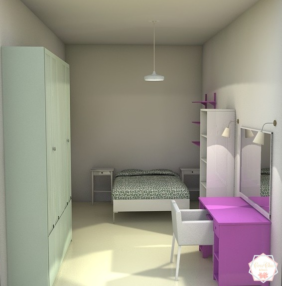 Diseño 3D dormitorio make up