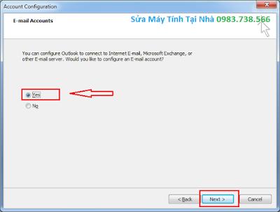 Cài Outlook cho Gmail - H04