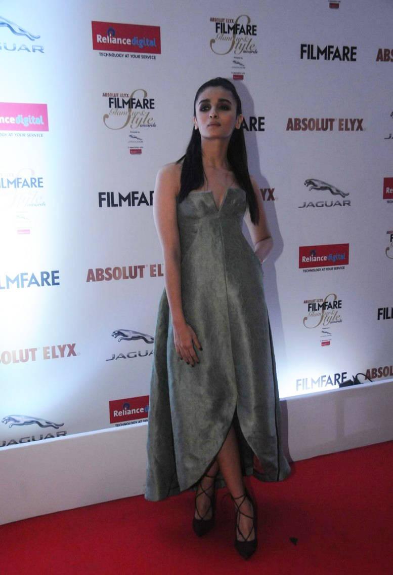 Alia Bhatt Long Hair Photo shoot In Green Gown