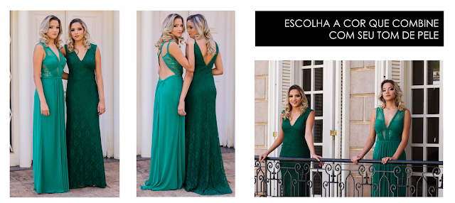 vestido festa de formatura bordado bh longo clássico atemporal loira verde
