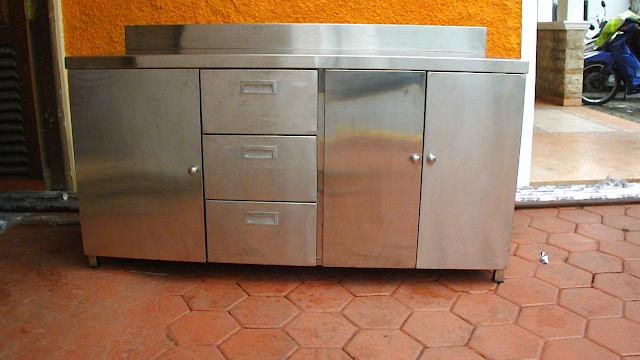 Jual Meja Stainless Steel Plus Cabinet Combi