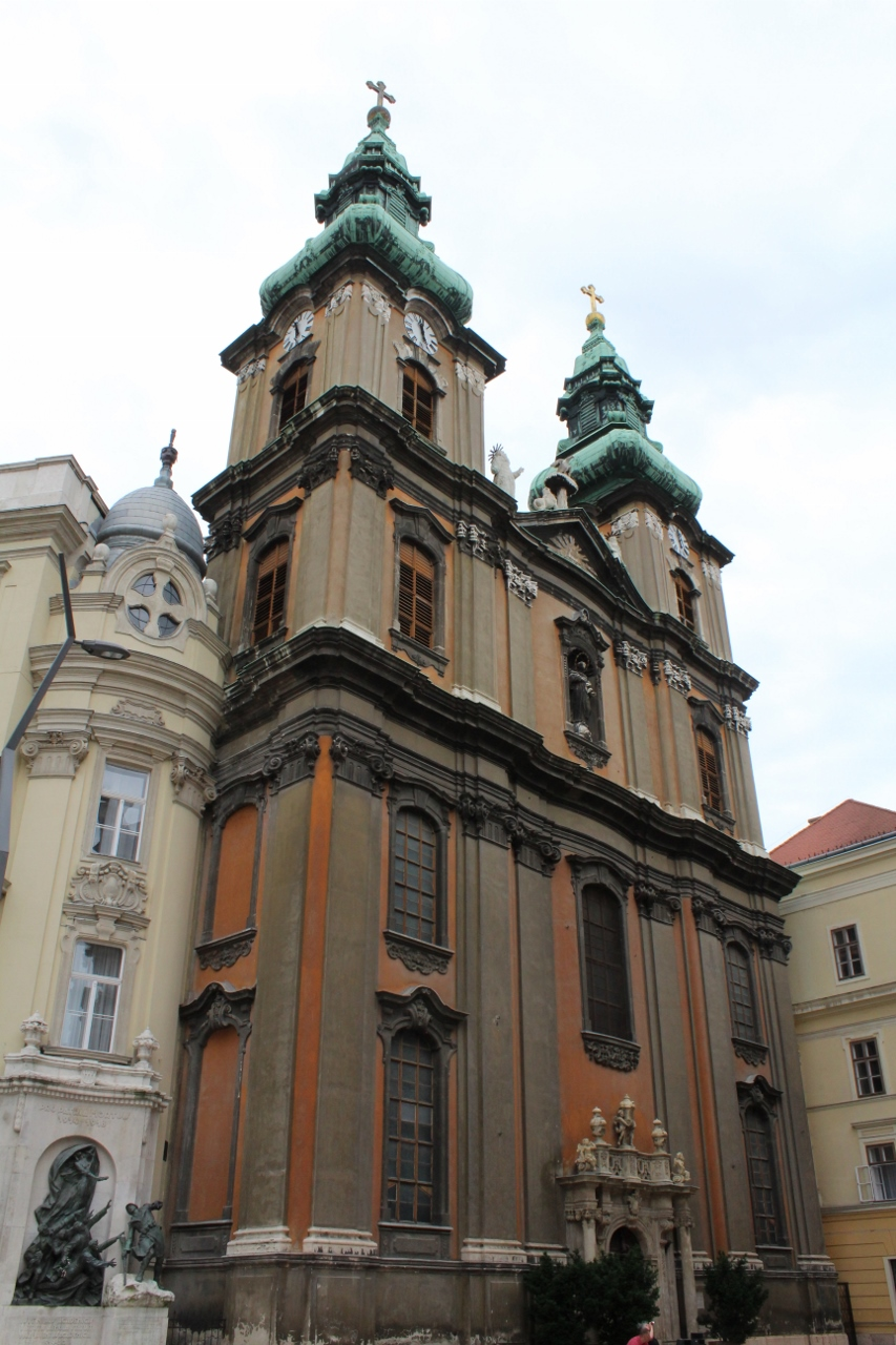 Front of Church in Budapest