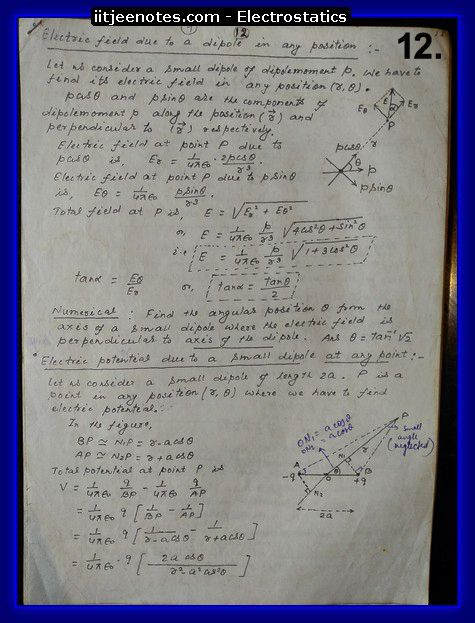 electrostatics notes ncert cbse