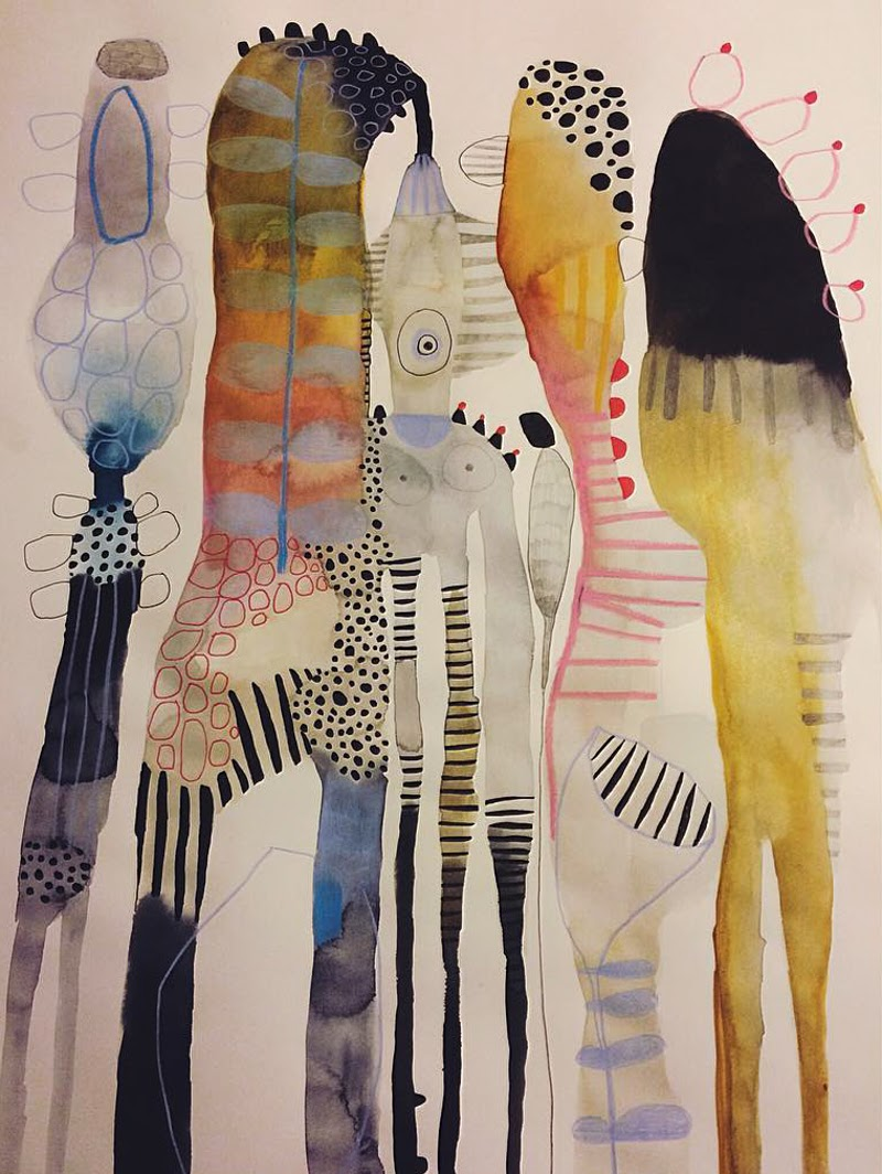 Watercolor Paintings by Emma Larsson from Stockholm, Sweden.