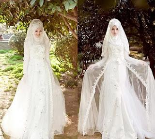 Rancangan Model Baju Pengantin Muslim Modern Terbaik