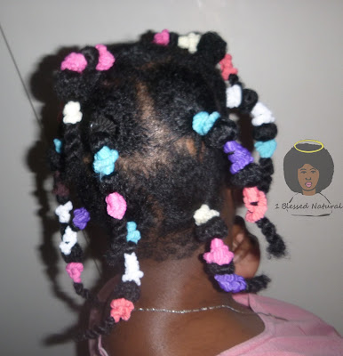 natural hair banded (stretched)
