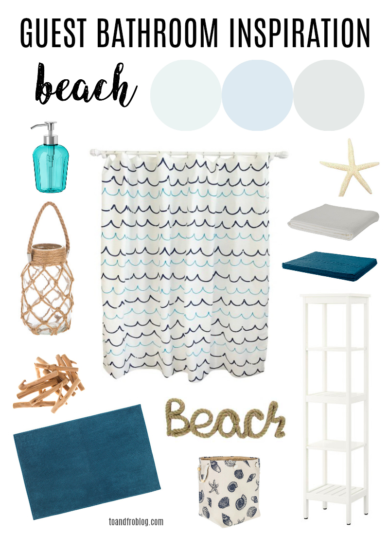 Beach Theme Bathroom Inspiration Board