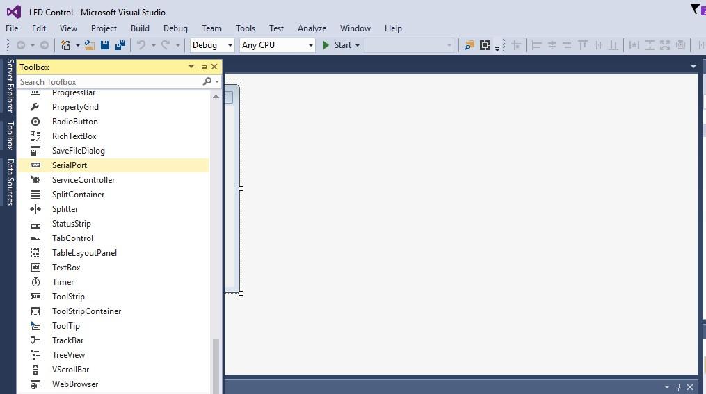 Control A led Using Visual Studio C# In Hindi