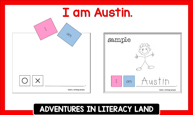 Using student names in books to teach letters, sounds, rhyme, and other reading skills.