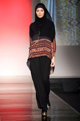 Model Baju Batik Modern Gamis Wanita Gemuk Terbaru