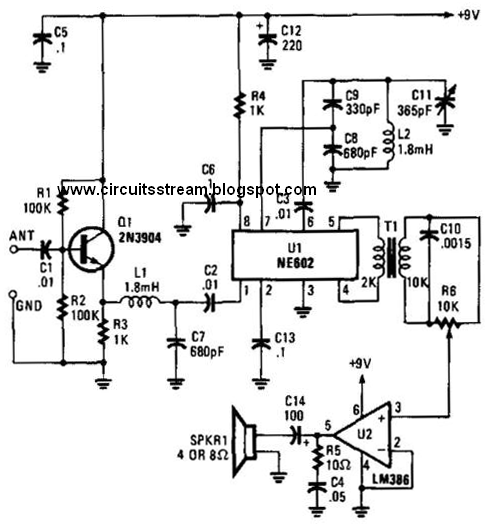 Build A Low Frequency Receiver Circuit Diagram