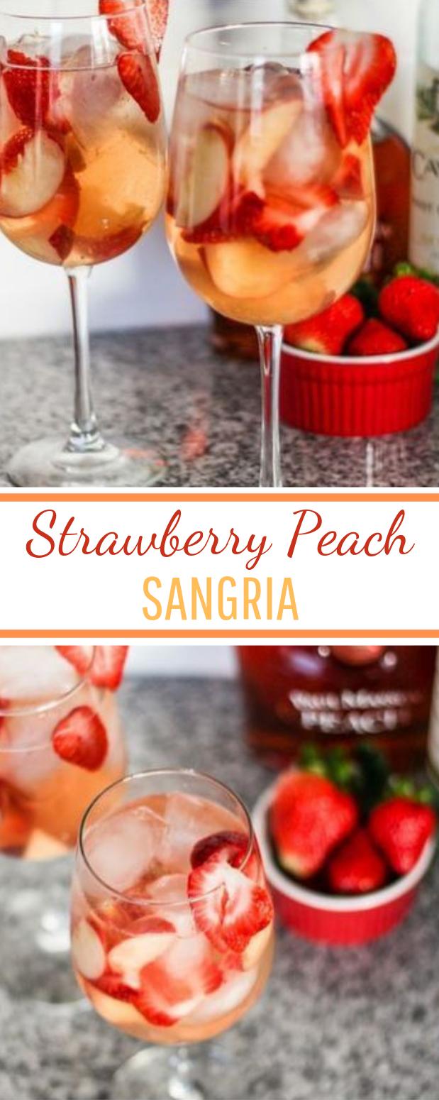 Peach Strawberry Sangria #fresh #drinks