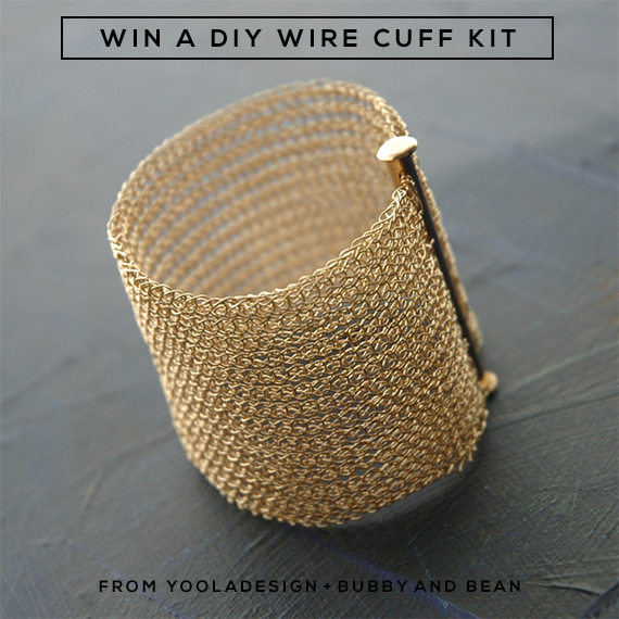 Win a DIY Wire Cuff Bracelet Kit from YoolaDesign and Bubby & Bean!
