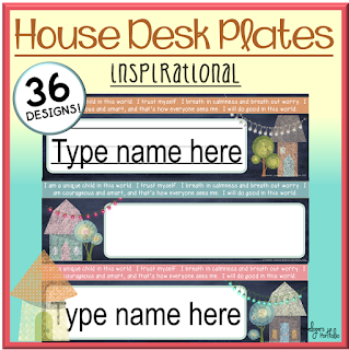 House Inspirational Desk Plates