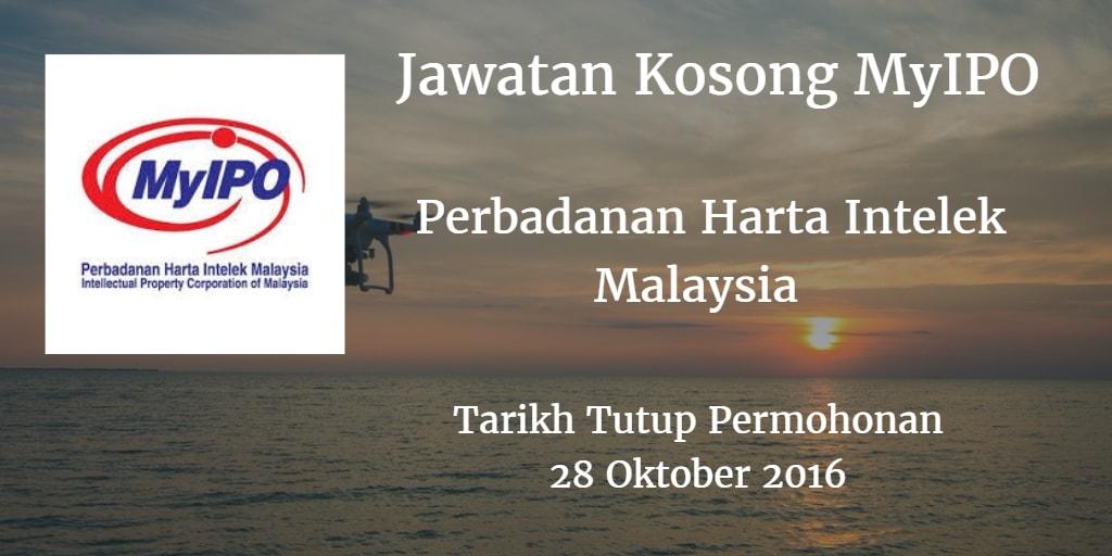 Jawatan Kosong MyIPO 28 Oktober 2016