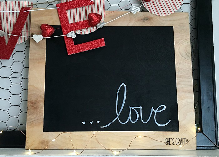 love sign, mantel, valentines day