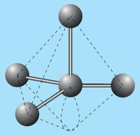 Bentuk molekul TeCl4