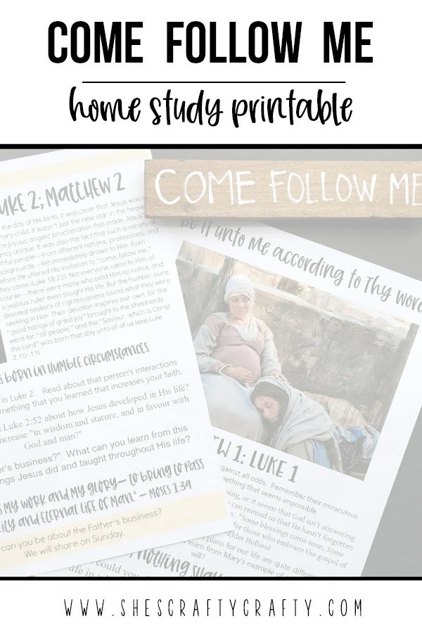 Come Follow Me - Home Study Printable and DIY magnet