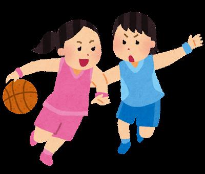 女子バスケットボールのイラスト