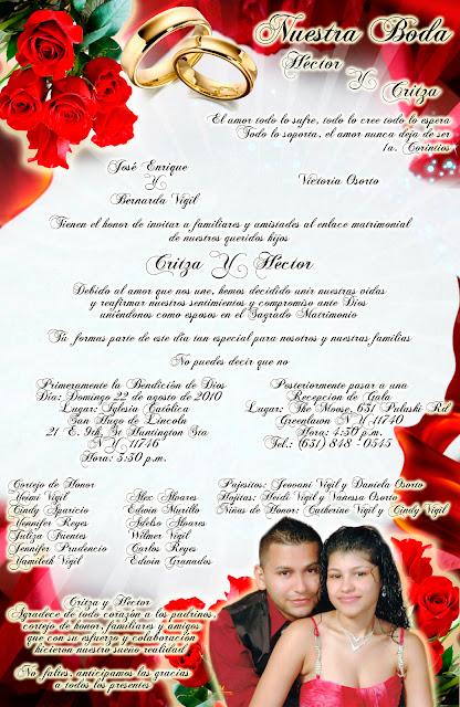 Tarjeta de Invitación para Boda Elegante y Novedosa Roja con Rosas Rojas y Anillos Personalizada con Fotografía