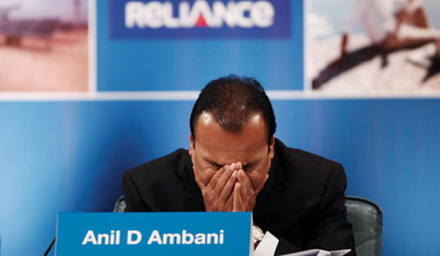 Reliance Group Ericsson case shares fall after anil ambani found guilty of contempt