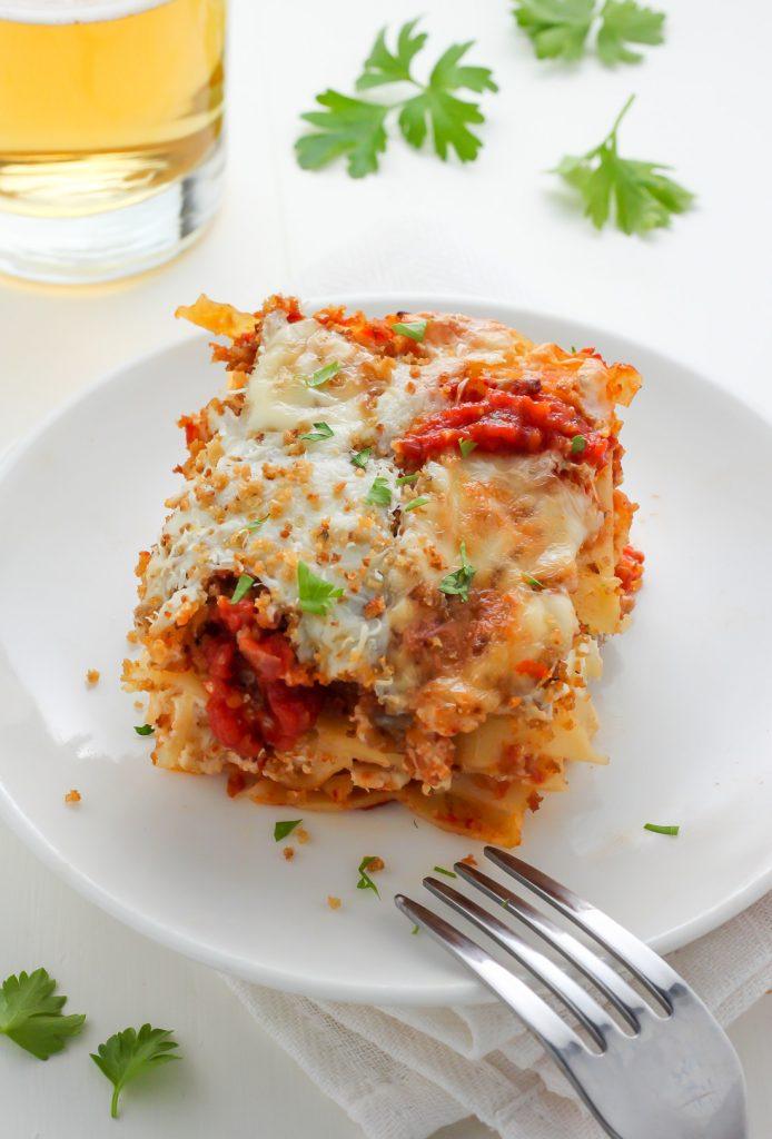 Lightened Up Chicken Parmesan Lasagna Recipe