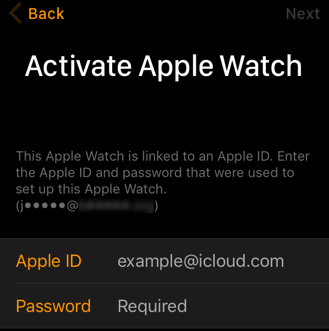 Activation Lock Apple Watch