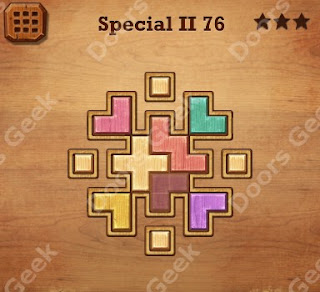 Cheats, Solutions, Walkthrough for Wood Block Puzzle Special II Level 76