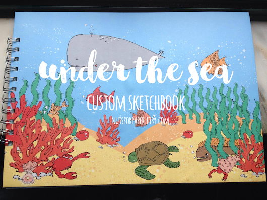Under the Sea | Custom Sketchbook