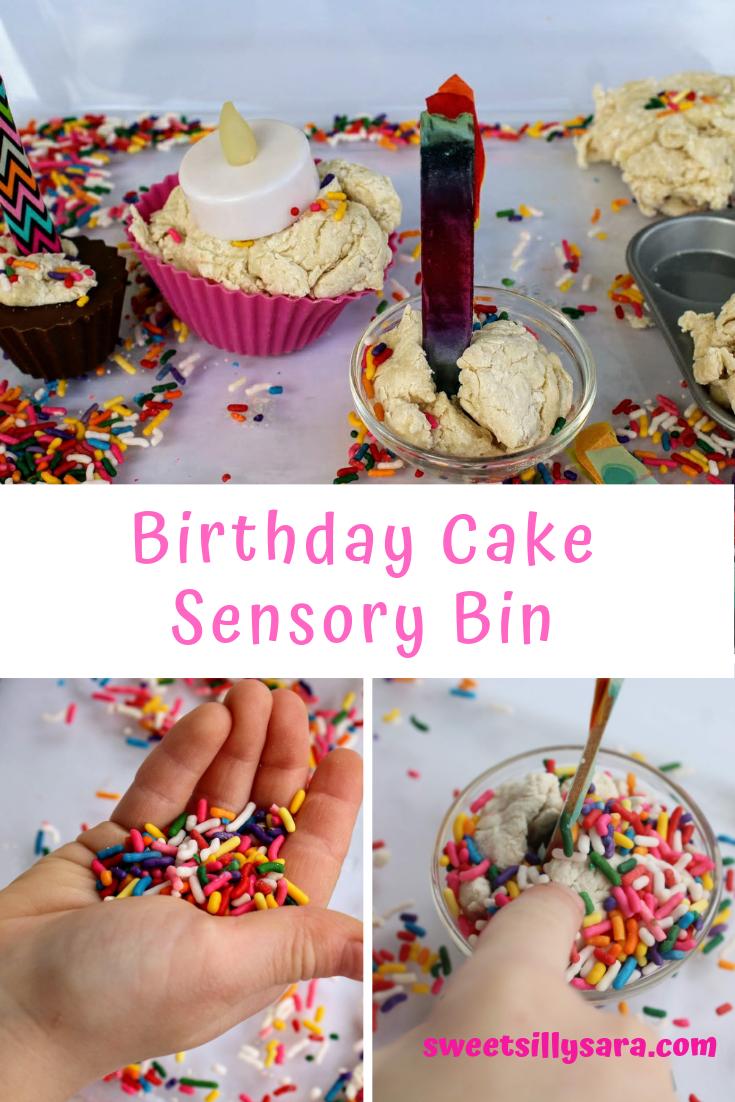Tremendous Crafting Reality With Sara Birthday Cake Sensory Bin Personalised Birthday Cards Veneteletsinfo