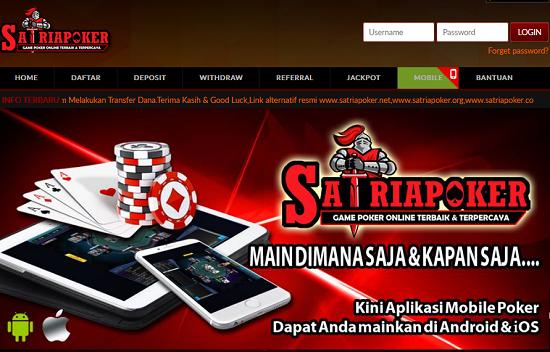 Satriapoker.net Agen Dewa Poker Online Terpercaya