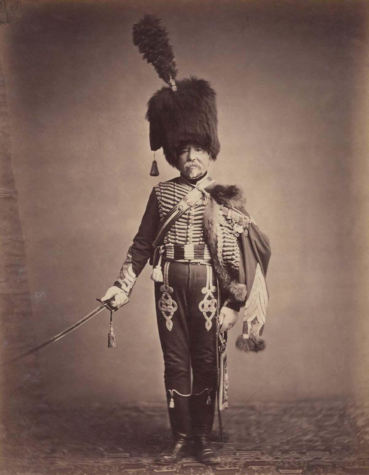 El intendente Fabry de los primeros húsares.